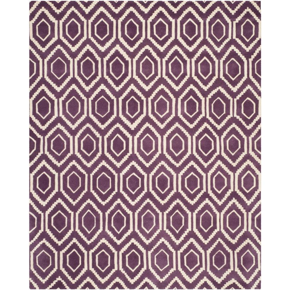 Safavieh Chatham Purple/Ivory 6 ft. x 9 ft. Area Rug