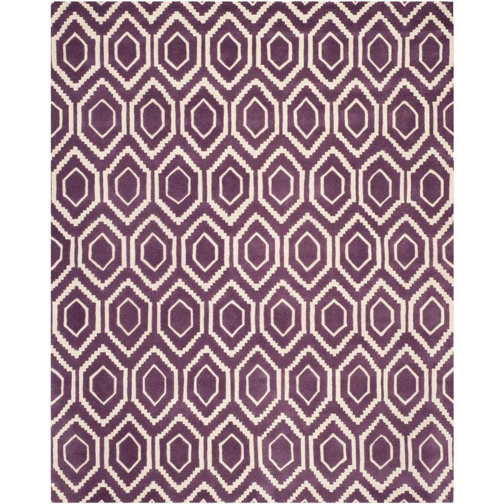 Chatham Purple/Ivory 6 ft. x 9 ft. Area Rug