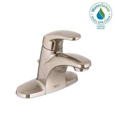 Colony Pro 4 in. Centerset Single-Handle Low-Arc Bathroom Faucet with 50/50 Pop-Up Assembly in Brushed Nickel