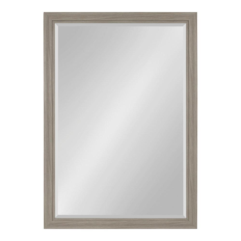 Dalat Rectangle 28 in. x 40 in. Gray Framed Wall Mirror