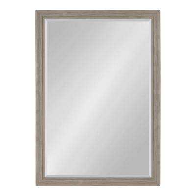 Dalat Rectangle 28 in. x 40 in. Gray Framed Wall Mirror
