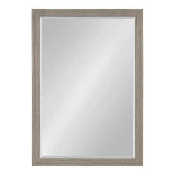Kate and Laurel Dalat Rectangle 28 in. x 40 in. Gray Framed Wall Mirror