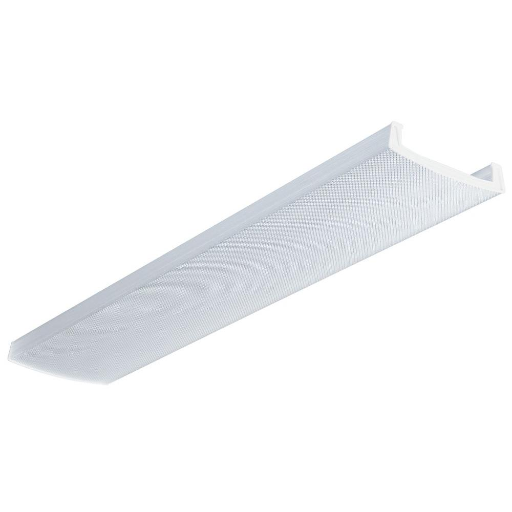 Fluorescent Light Fixture Covers Replacement: Lithonia Lighting LB 4 In. X 12 In. Clear Wraparound