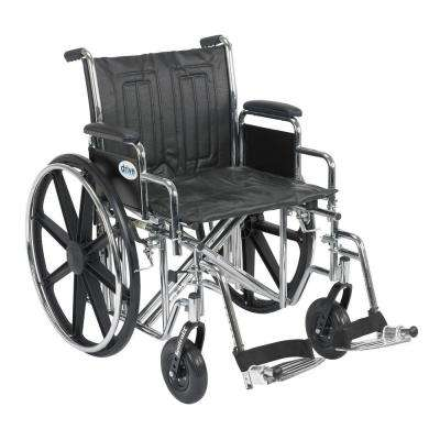 Sentra EC Heavy Duty Wheelchair with Desk Arms, Swing Away Footrest and 20 in. Seat