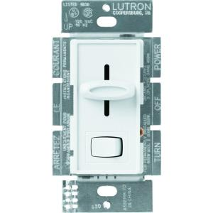 Lutron Skylark 1 5 Amp Single Pole 3 Speed Slide To Off