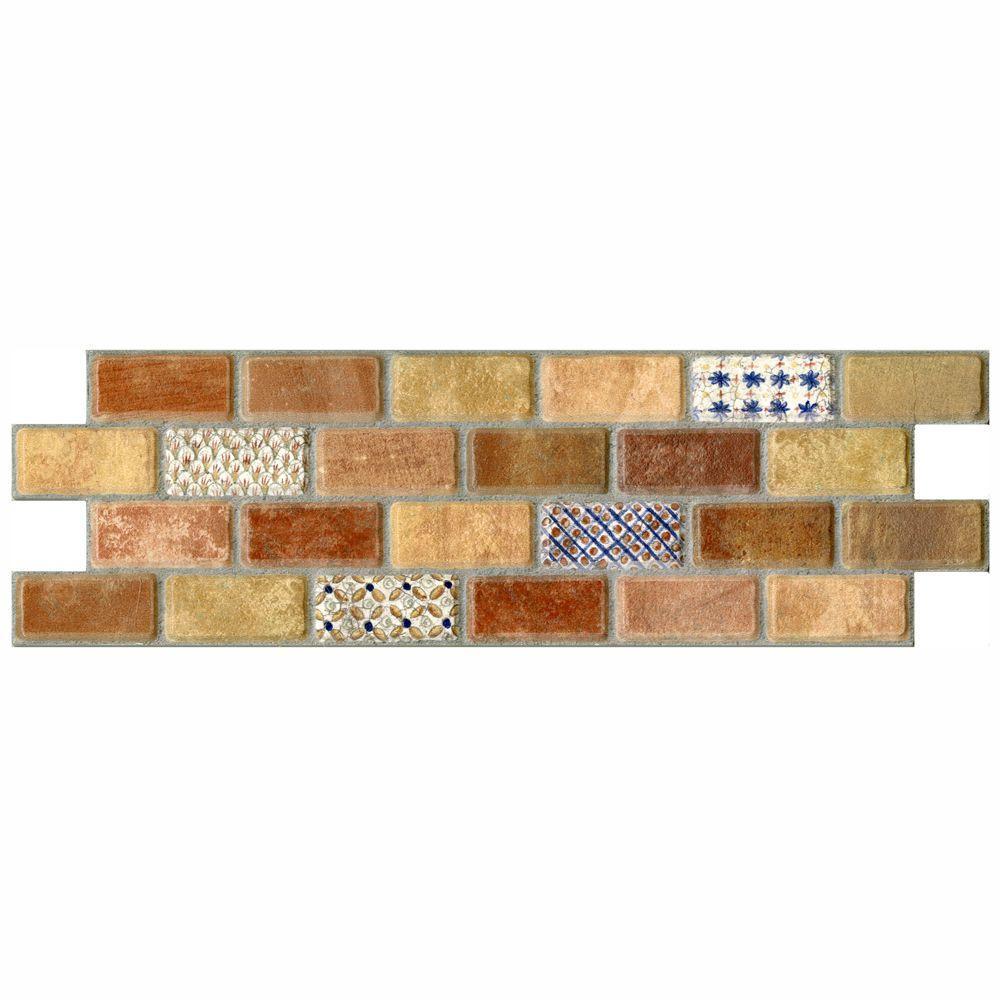 Merola Tile Mosaico Valise 3-3/4 in. x 11-1/4 in. Ceramic Wall Tile