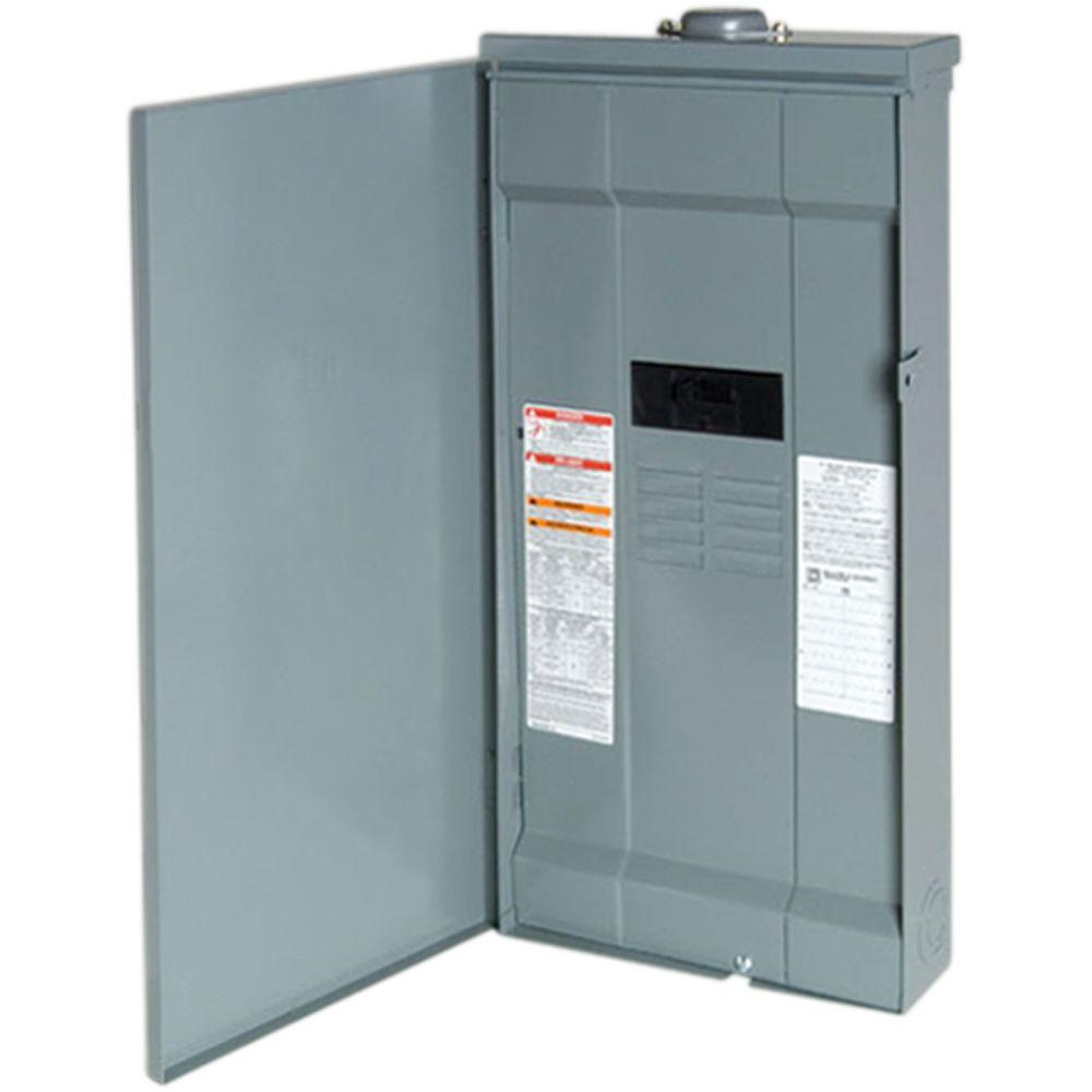 Square D QO 150 Amp 8-Space 16-Circuit Outdoor Main Breaker Load Center with Feed-Thru Lug