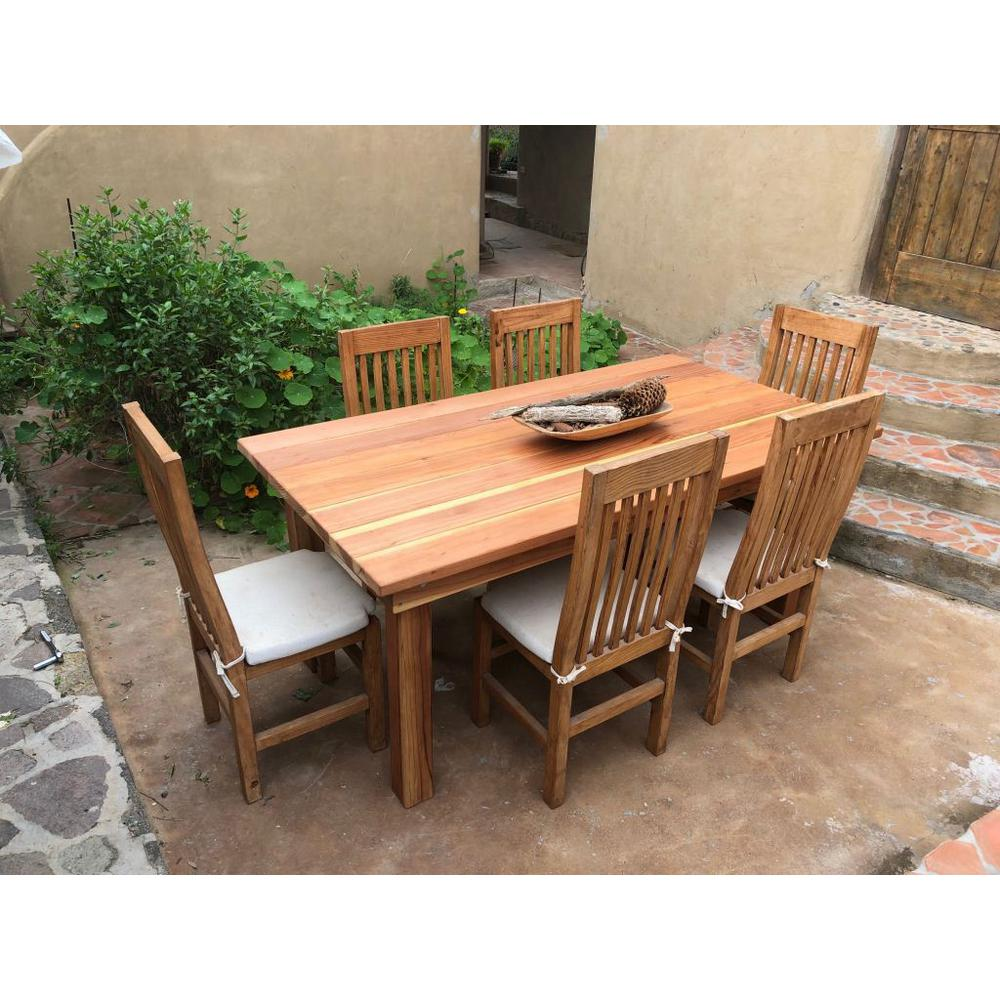 6 Ft Redwood Outdoor Dining Table Fdt