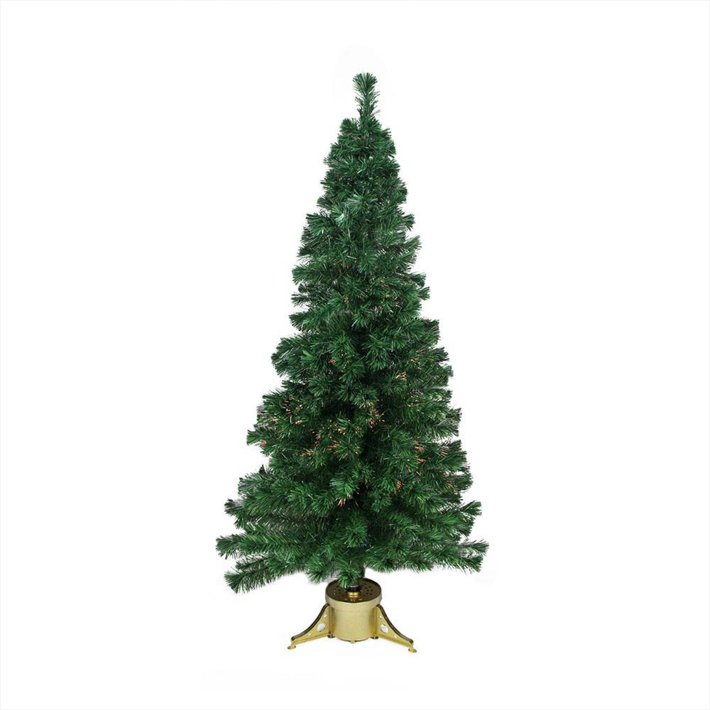 4 ft. Pre-Lit Color Changing Fiber Optic Artificial Christmas Tree