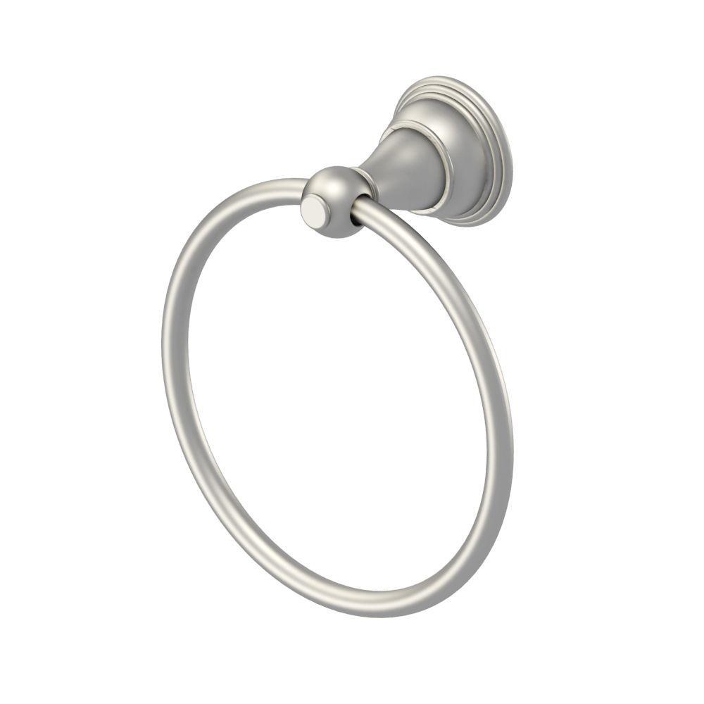 Varina Towel Ring in Brushed Nickel