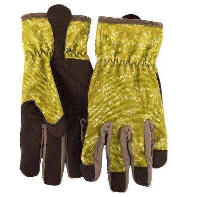 Women's M Utility Gloves, Green