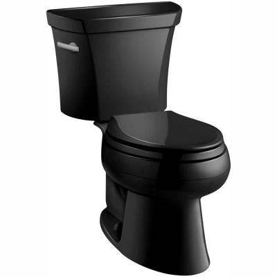 Wellworth 2-piece 1.28 GPF Single Flush Elongated Toilet in Black Black
