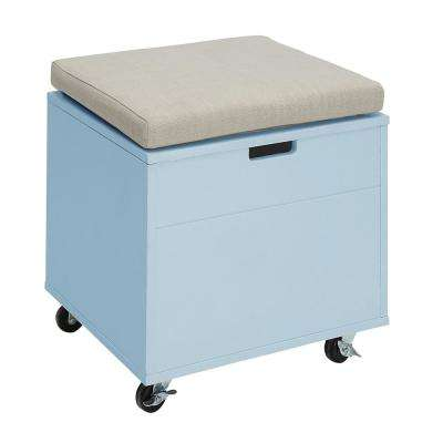 Sadie London Blue Small Office File Bench