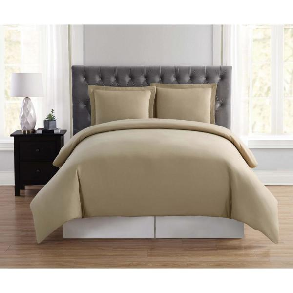Truly Soft Everyday 3-Piece Khaki Full/Queen Duvet Cover Set