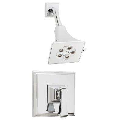 Rainier Pressure Balance Valve and Trim in Shower Combination in Polished Chrome