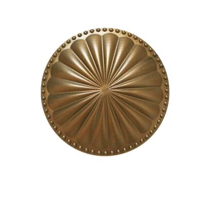 Laguna Flat Glamour Gold 5.25 in. x 5.25 in. Cleanout Cover