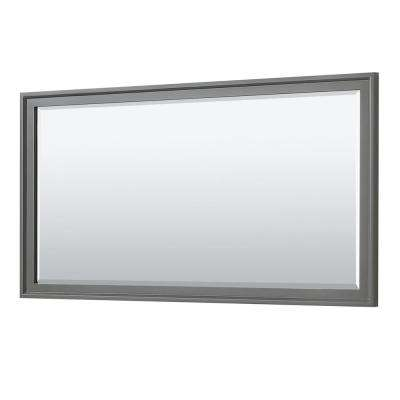 Tamara 70 in. W x 33 in. H Framed Wall Mirror in Dark Gray