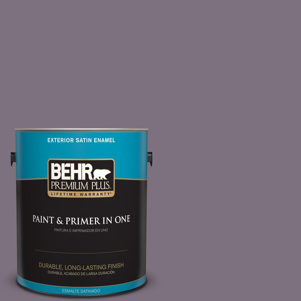 1 gal. #PPU17-17 Plum Shadow Satin Enamel Exterior Paint