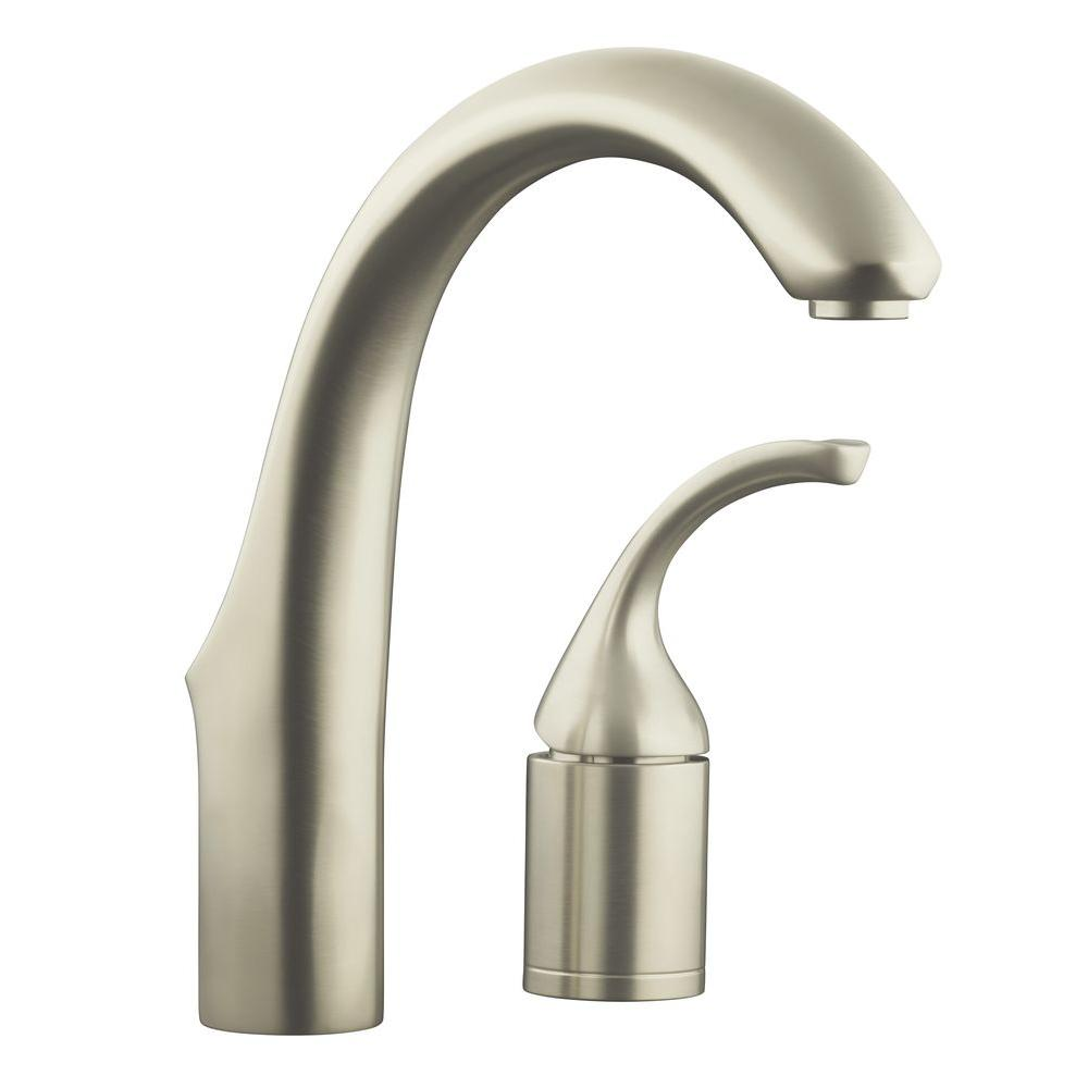 Kohler Forte 2 Hole Single Handle Bar Faucet In Vibrant Stainless K