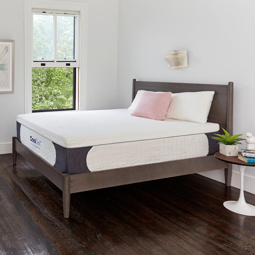unique king bed frame white gloss cool gel ultimate kingsize 14 in memory foam mattress mattress410167