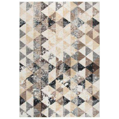 Xcite Ivory/Multicolor 8 ft. x 10 ft. Rectangle Area Rug