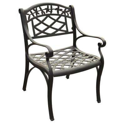 Sedona Black Cast Aluminum Outdoor Dining Chair (2-Pack)