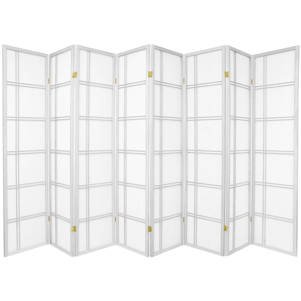 6 ft White 8 Panel Room Divider SSCDBLX 8P WHT The Home Depot