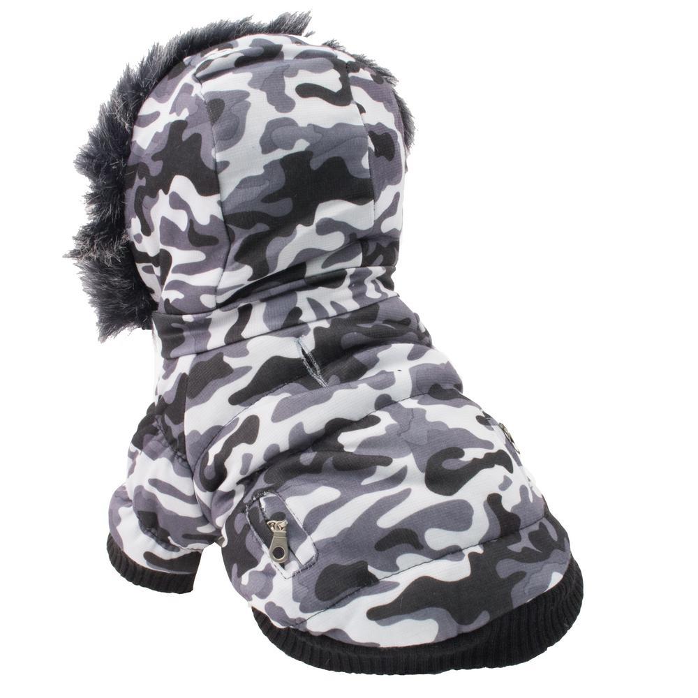 X-Large Snow Camouflage Fashion Pet Parka Coat