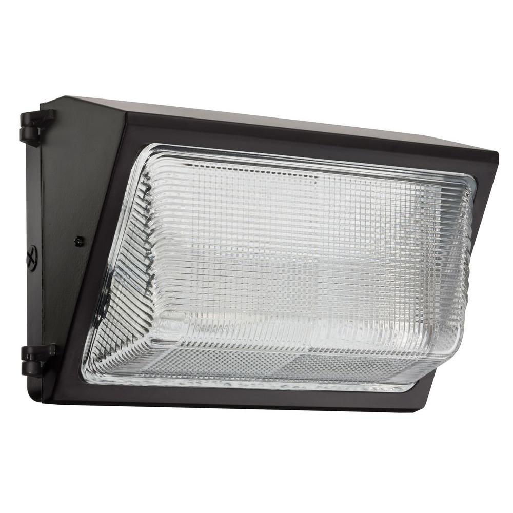Metal Halide Lights Home Depot: Lithonia Lighting 150 -Watt Bronze Outdoor Wall Pack Light