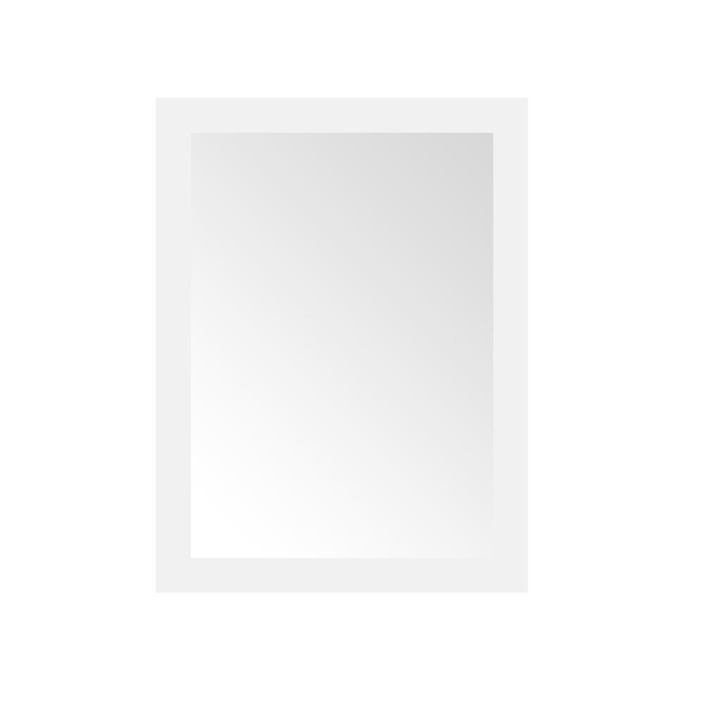 Home Decorators Collection Grace 24 in. x 32 in. Single Framed Wall Mirror in White