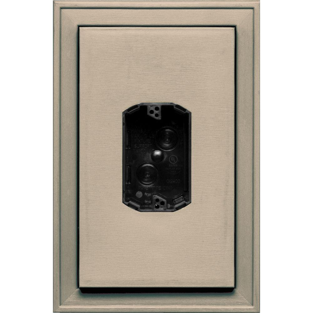 Builders Edge 8.125 in. x 12 in. #085 Clay Jumbo Electrical Mounting Block Centered