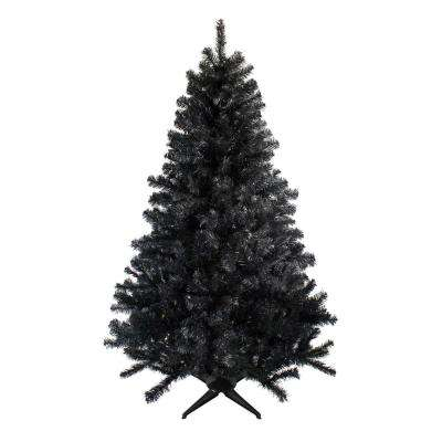 7 ft. Unlit Colorado Spruce Artificial Christmas Tree, Black