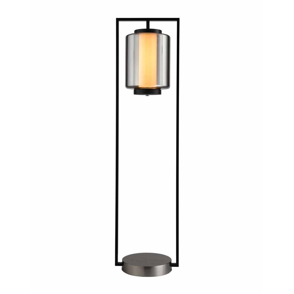 Sawtelle 50 in. Chrome Floor Lamp