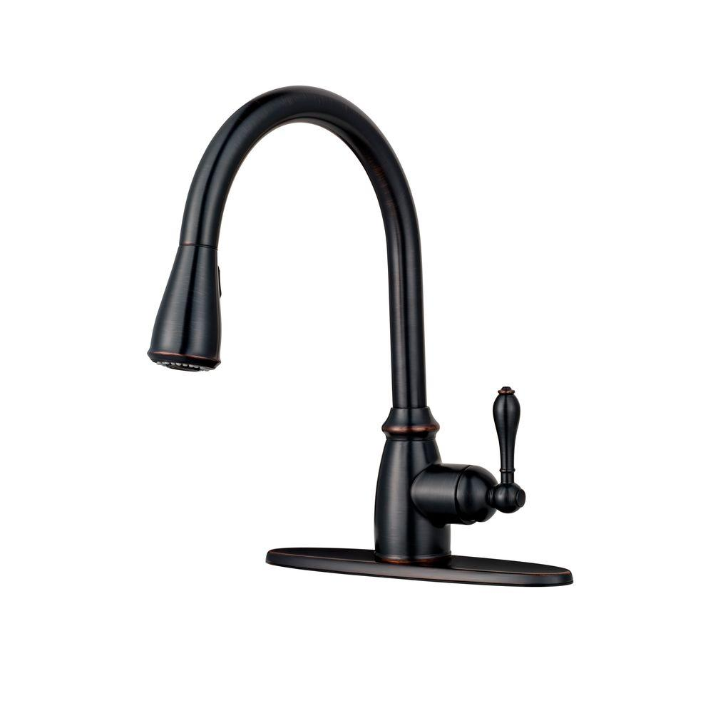 2 handle pull down kitchen faucet pfister canton single handle pull sprayer kitchen 26286