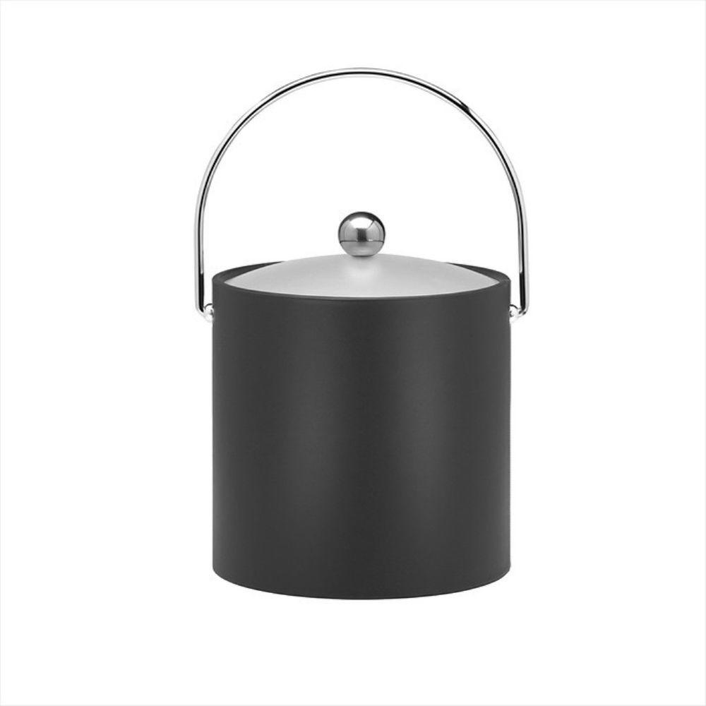 Kraftware 3 Qt. Insulated Ice Bucket in Black