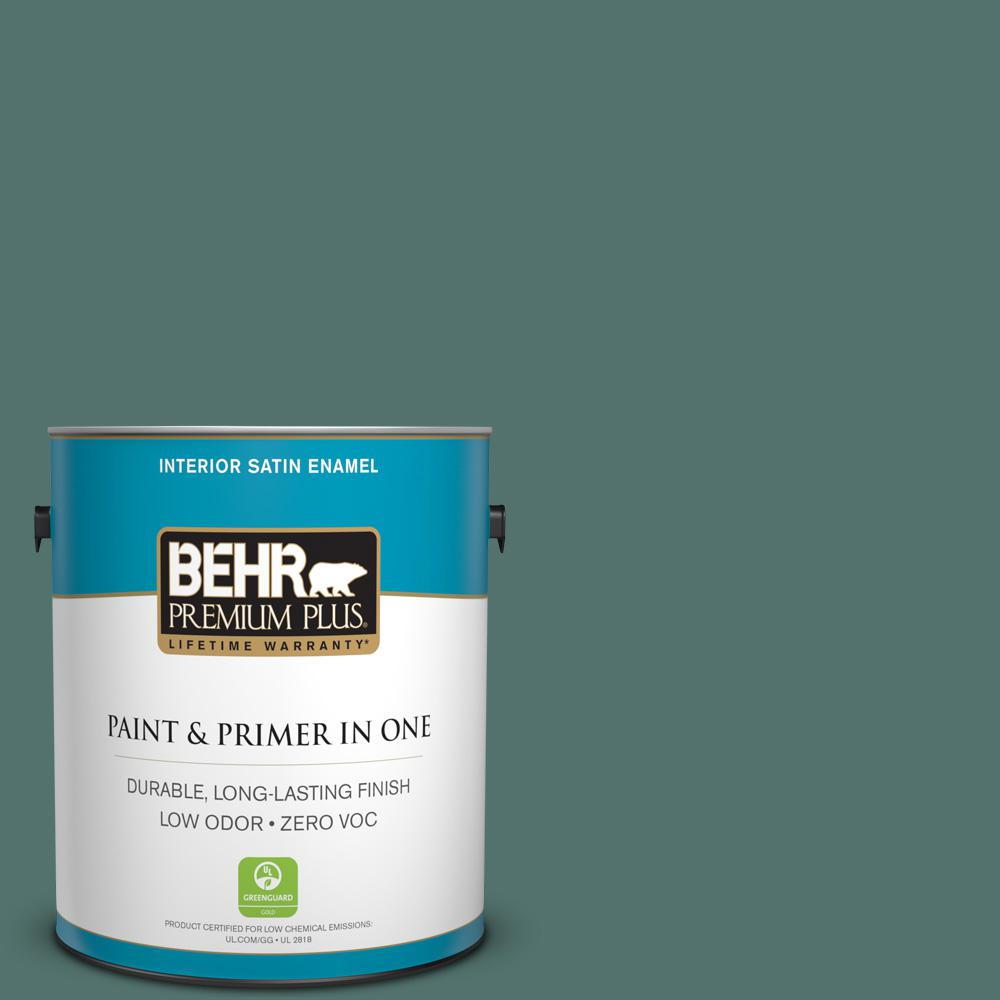 1 gal. #HDC-WR16-04 Noble Fir Zero VOC Satin Enamel Interior Paint
