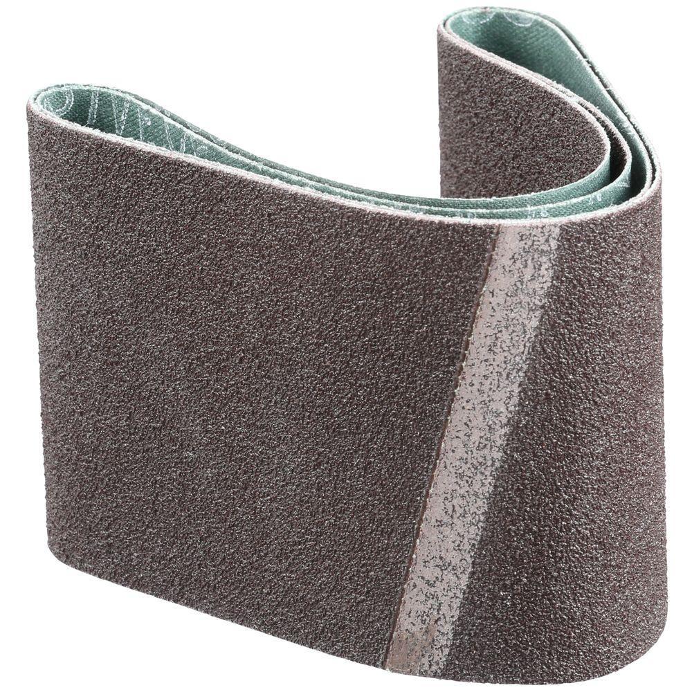 3 in. x 18 in. 60-Grit Abrasive Belt (2-Pack)