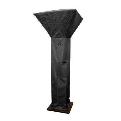 92 in. Heavy Duty Black Square Commercial Heater Cover for 35 in. Square Shield