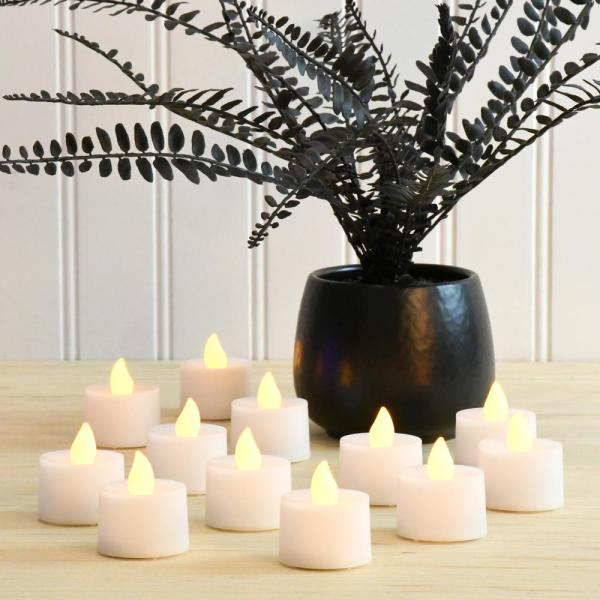 Colour Changing Tea Light Candles Set Of 4 Rose Style Candles
