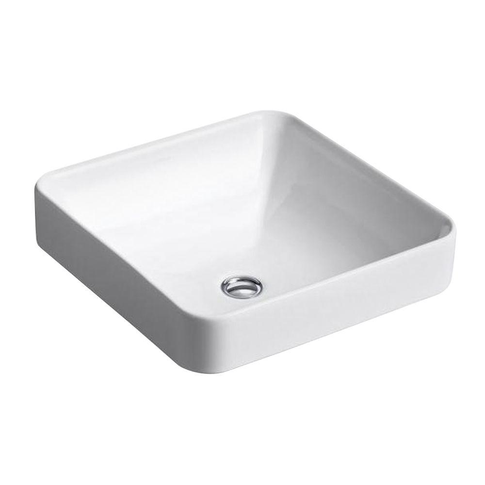 Bon KOHLER Vox Vitreous China Vessel Sink In White With Overflow Drain