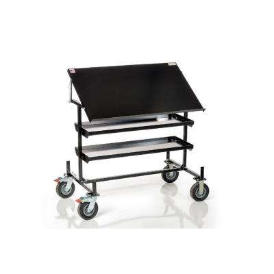 Mobile Print Table Service Tool Cart with Storage