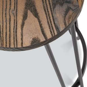 Fine Poly And Bark Kasey Walnut And Charcoal Grey Counter Stool Gmtry Best Dining Table And Chair Ideas Images Gmtryco