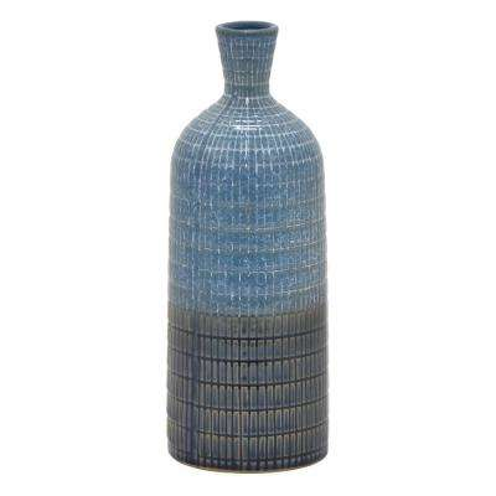 13 in. Ceramic Vase in Blue