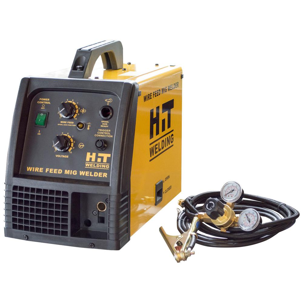 hit welding 140 amp 120 volt mig welder 802276 the home depot rh homedepot com Wiring 240 Volt Welder Mig Welder Wiring Diagram