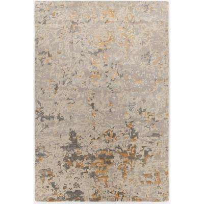 Rupec Beige/Grey/Gold 7 ft. 9 in. x 10 ft. 6 in. Hand Tufted Area Rug