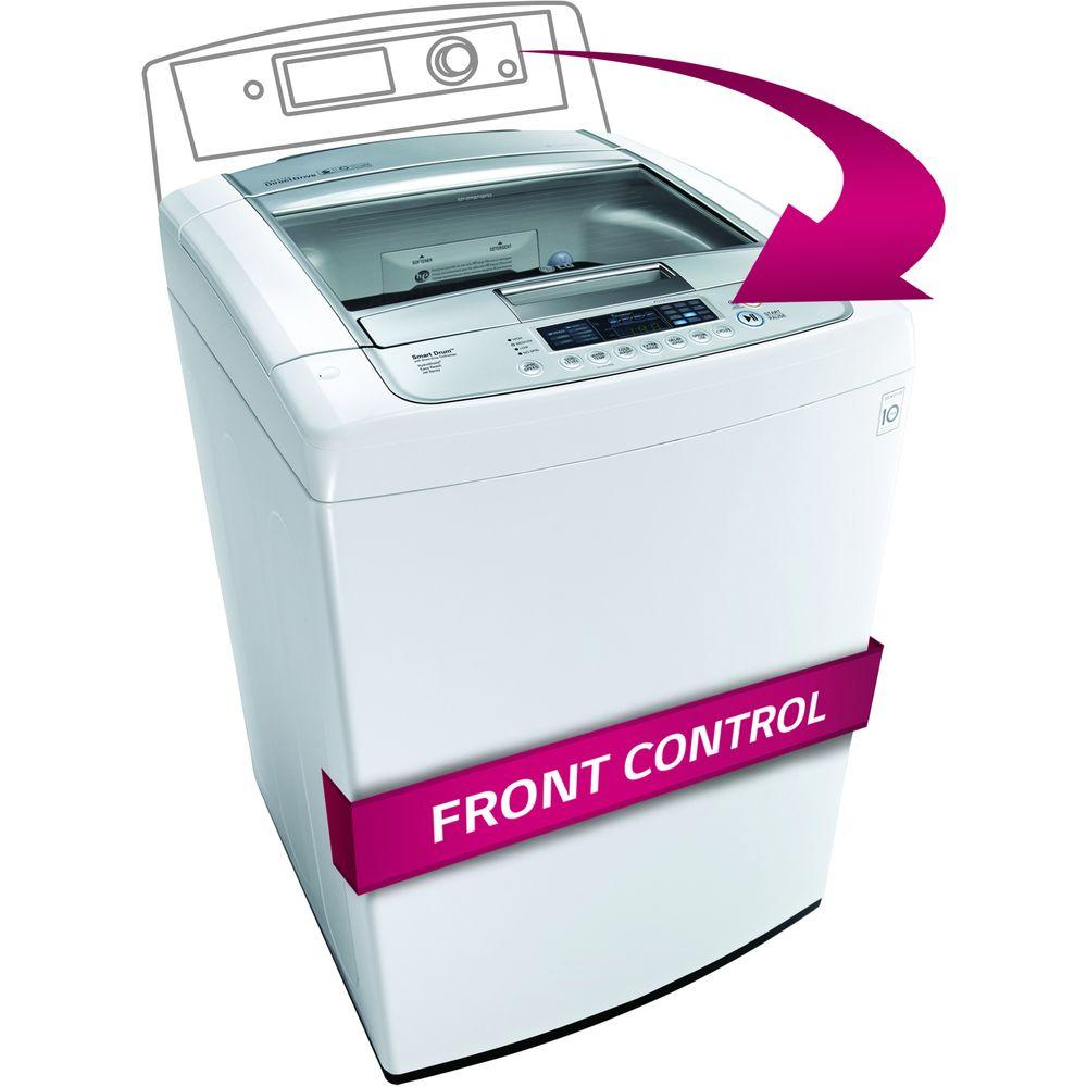 LG Electronics 4.3 cu. ft. High-Efficiency Front Control Top Load Washer in White, ENERGY STAR