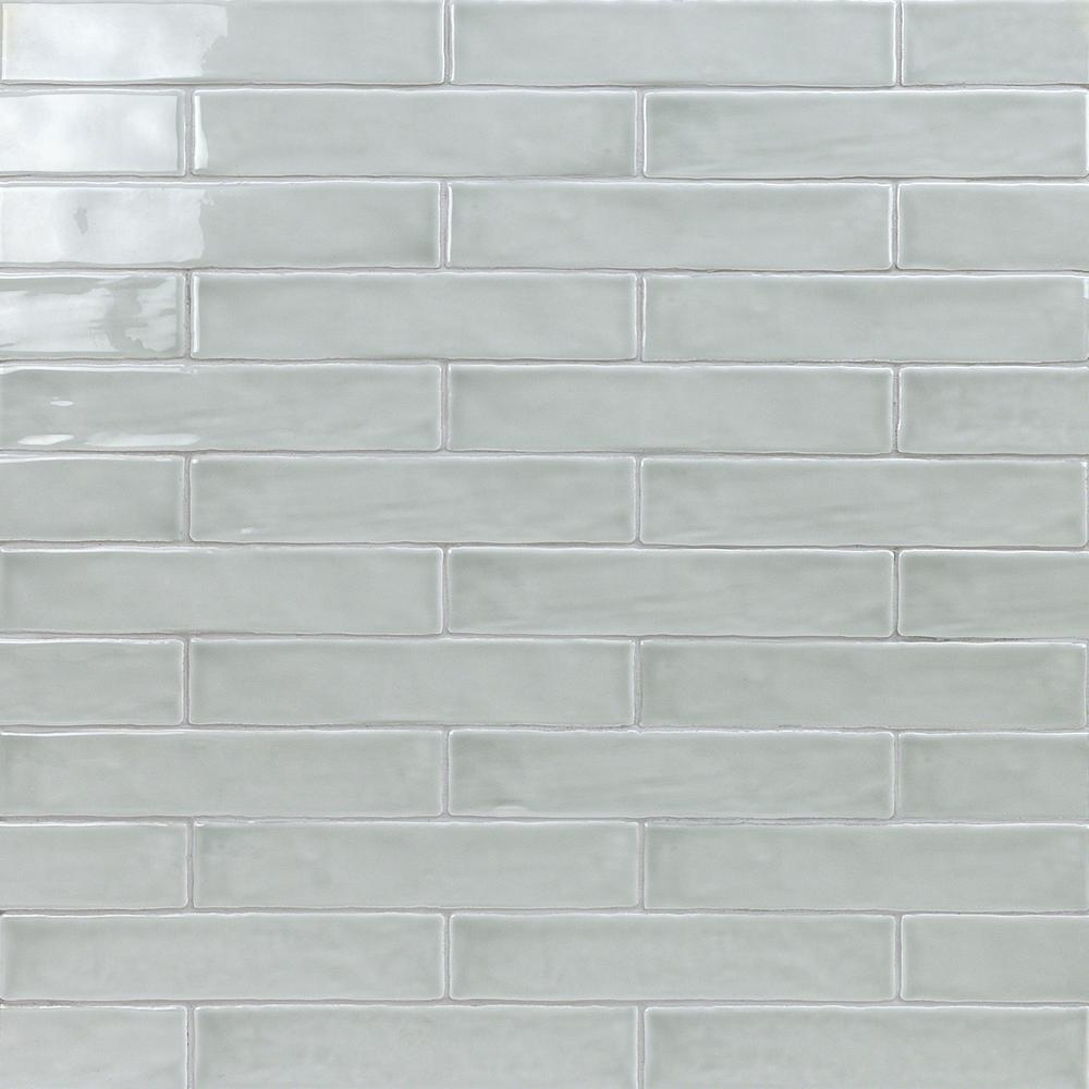 Ivy Hill Tile Newport Gray 2 In X 10 11mm Polished Ceramic Subway Wall 40 Pieces 5 38 Sq Ft Box