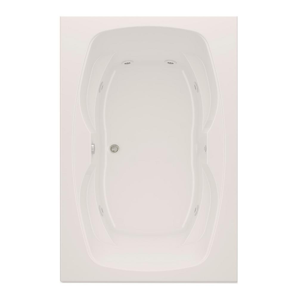 Hialeah II 6 ft. Reversible Drain Acrylic Whirlpool Bath Tub in