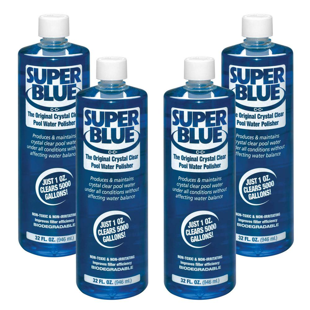 1 Qt. Super Blue Water Clarifier (4-Pack)