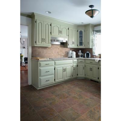Peacock 12 in. x 12 in. Gauged Slate Floor and Wall Tile (10 sq. ft. / case)